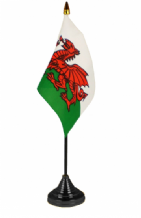 WALES - Table Flag